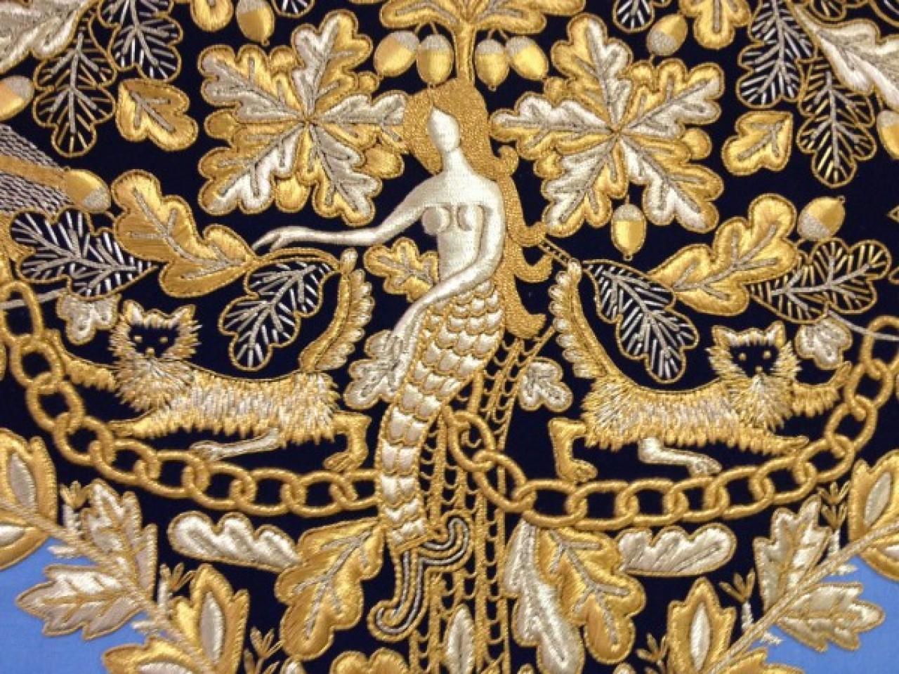 Российский город который славится золотой вышивкой по материи