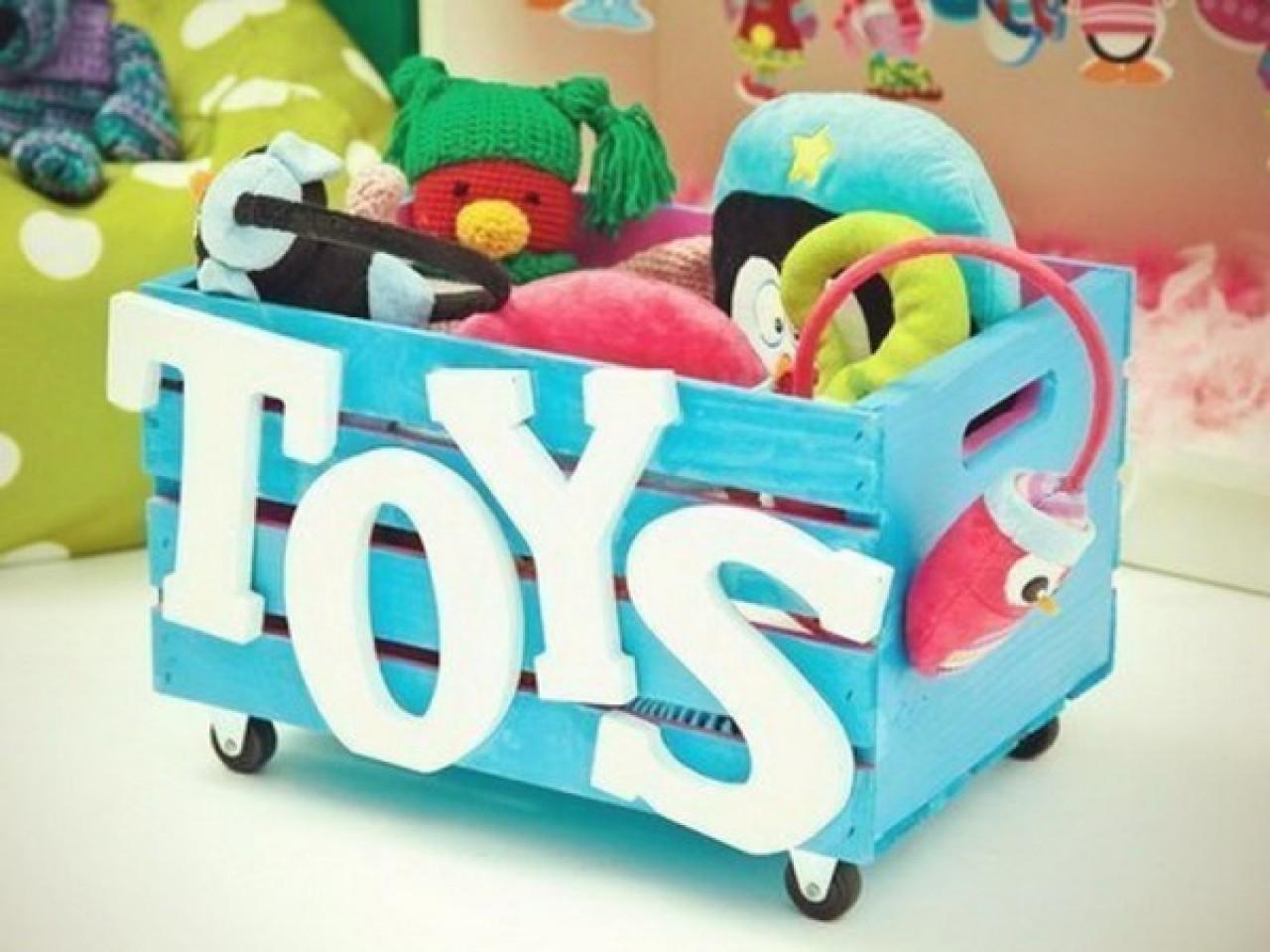 Оформить коробку для игрушек своими руками