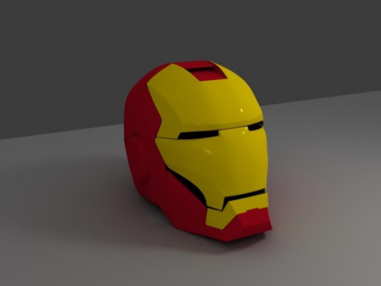 Железный человек схема шлема